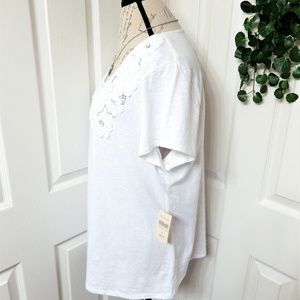 Coldwater Creek Tops - Coldwater Creek Embellished White Top Size XL 16